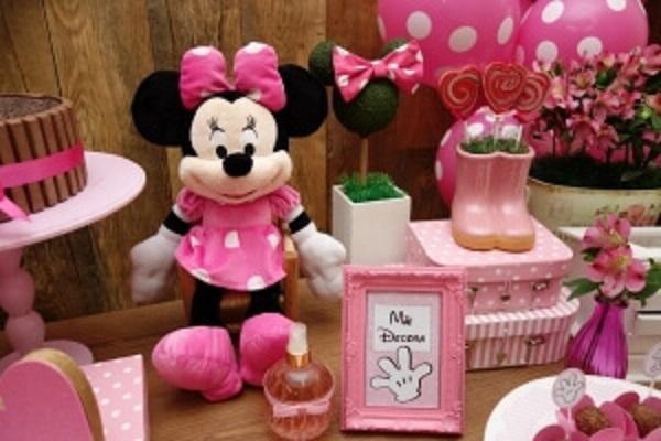 Itens de decoração para festa da Minnie