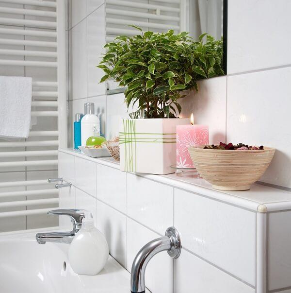 Plantas para banheiro artificiais e elegantes