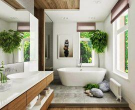 Plantas para banheiro decoram a área de banho