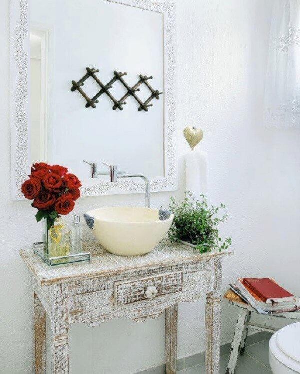 Plantas para banheiro flor na pia Jeito de casa