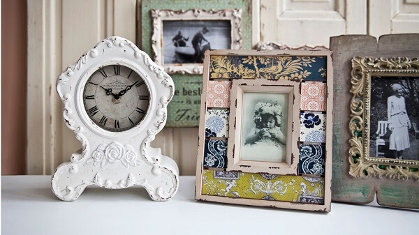 Quadro decorativo vintage usado para porta-retrato