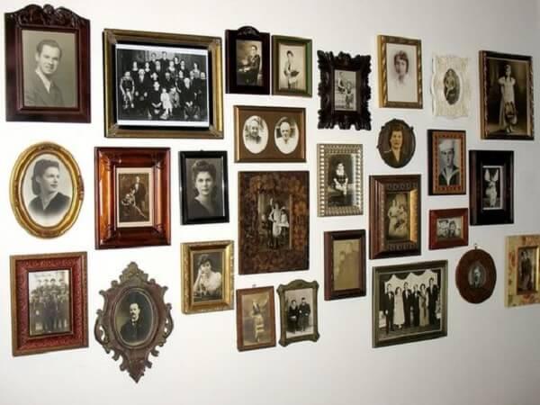 Quadro decorativos vintage em forma de porta-retrato