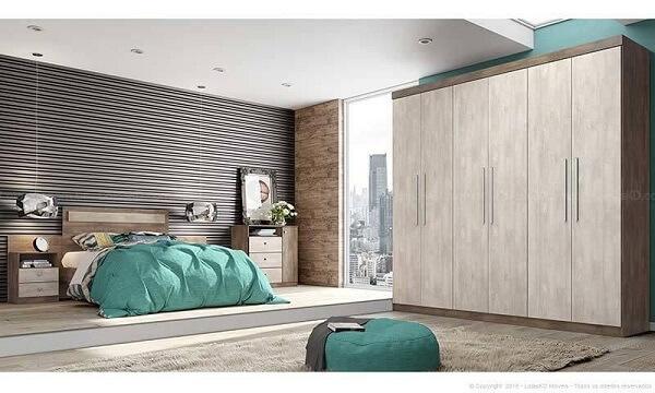 Puff para quarto de casal na cor verde da LojasKD
