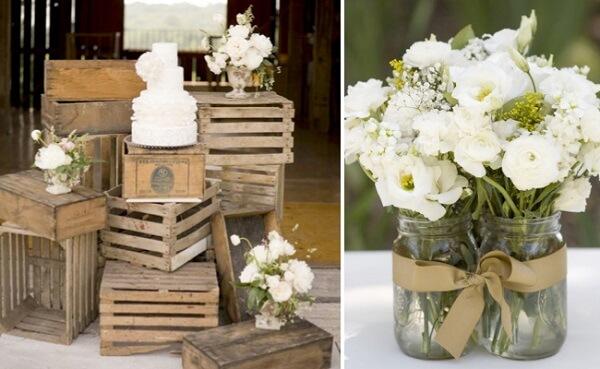 Romântica e delicada define a decoração vintage casamento