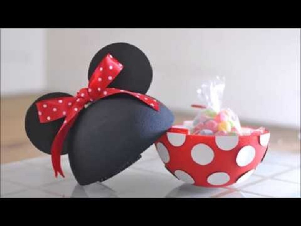 Super bola surpresa da minnie com doces
