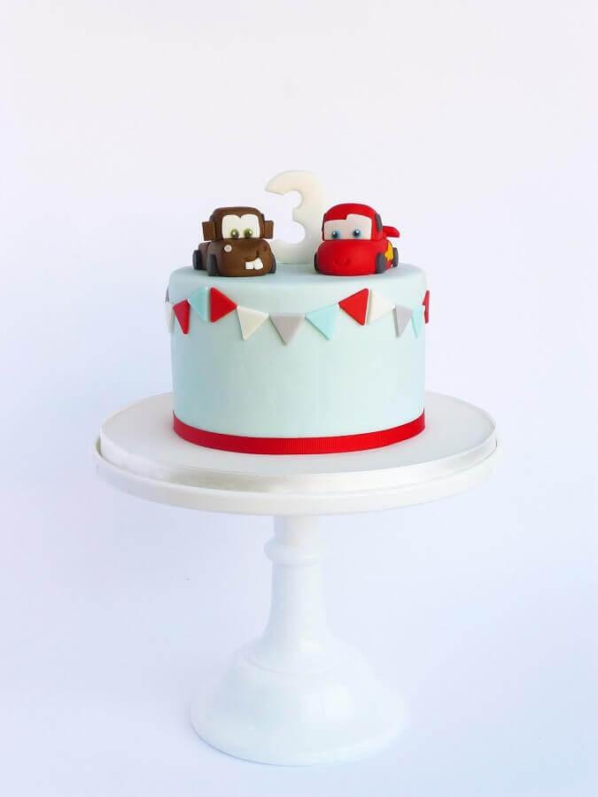 bolos decorados infantil para festa com temas carros Foto Peace of Cake