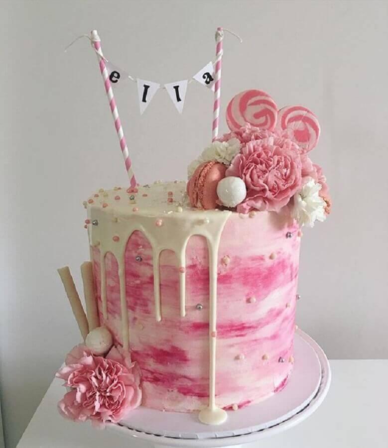 bolos decorados simples Foto Pinterest
