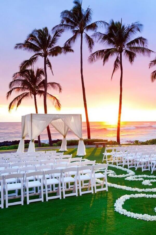 casamento ar livre simples com por do sol Foto Wedding Design Ideas