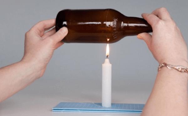 Como cortar garrafa de vidro com vela