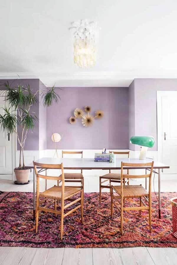cor lilás combina com qualquer ambiente da casa