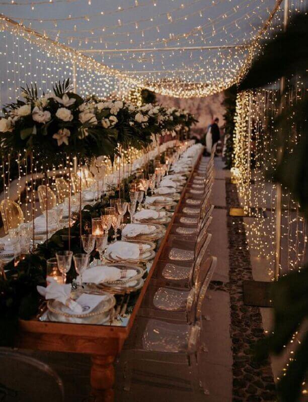 blinker curtain for outdoor evening wedding decor Photo WeddingWire