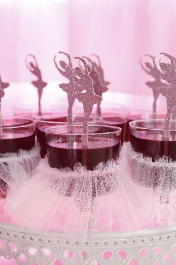 decoração de doces para festa da bailarina Foto Pinterest
