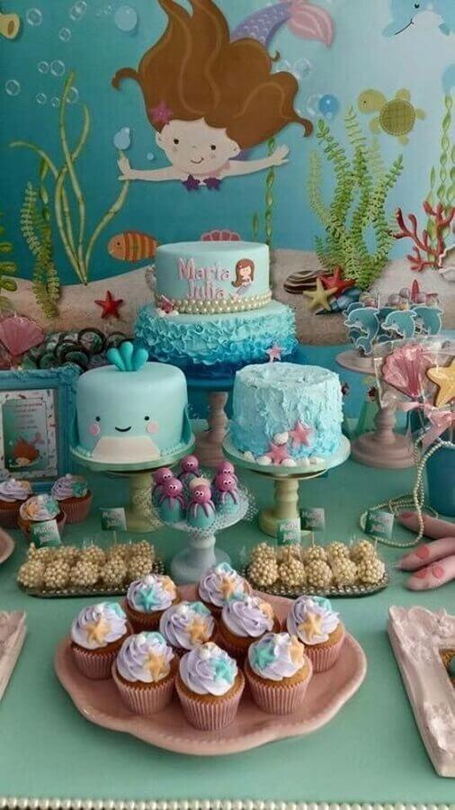 decoração delicada para festa de aniversário infantil com sereias Foto Air Freshener