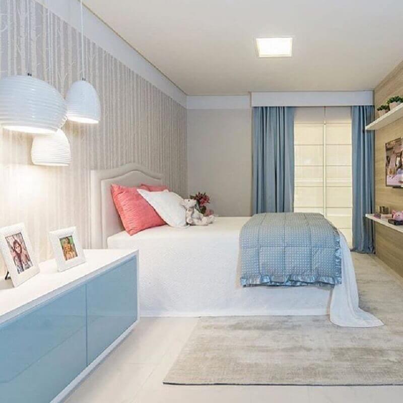 decoração delicada para quarto de menina azul Foto Casa Perferies