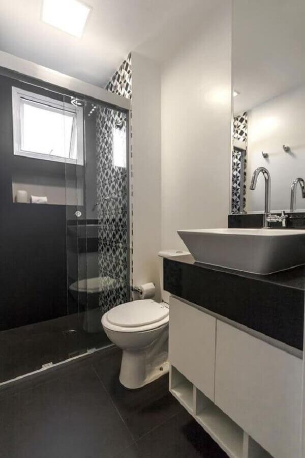 decoração em tons de cinza para banheiro masculino simples Foto Casa Perferies