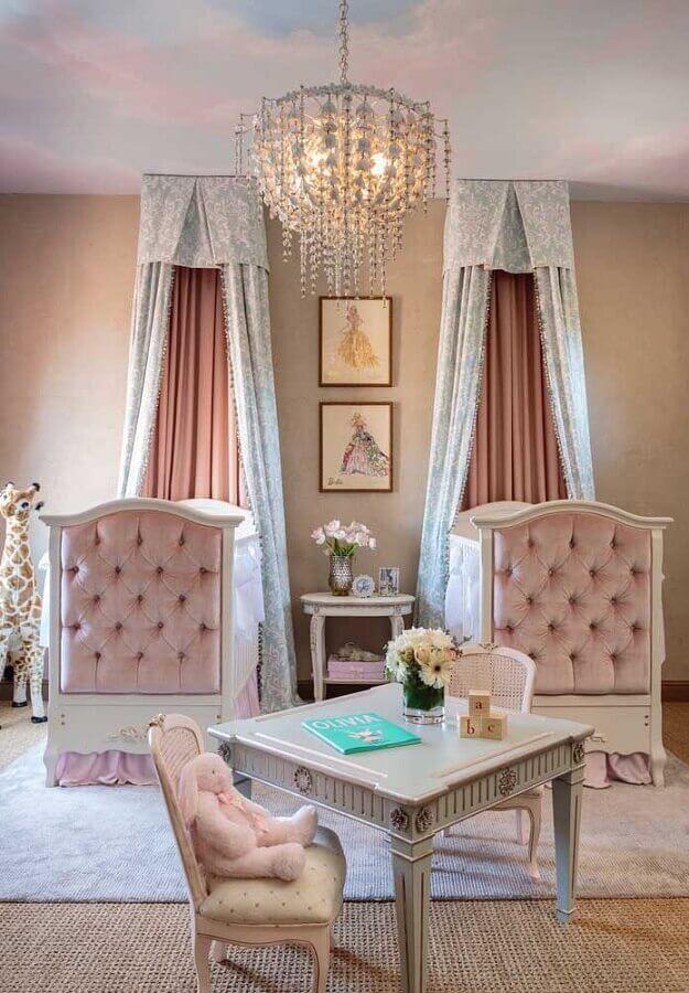 decoração estilo princesa para quarto de bebê gêmeos Foto Neu dekoration stile