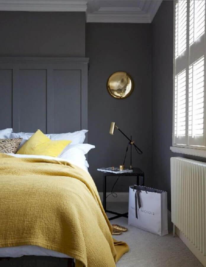 decoração minimalista para quarto cinza e amarelo Foto Air Freshener