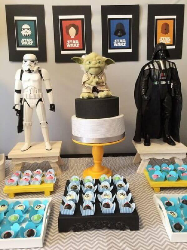 decoração para festa de aniversário com tema Star Wars Foto Casa e Festa