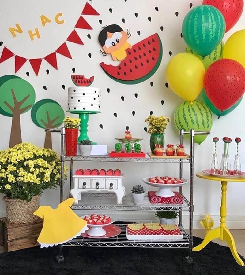 decoração para festa de aniversário infantil com tema Magali Foto Pop Lembrancinhas