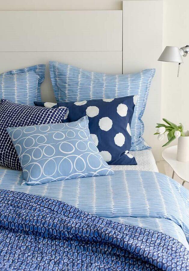 decoração para quarto azul e branco Foto Pinosy