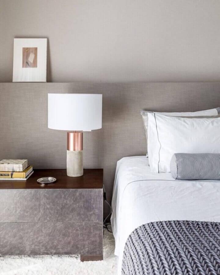 decoração para quarto cinza e branco Foto Anexo Arquitetura