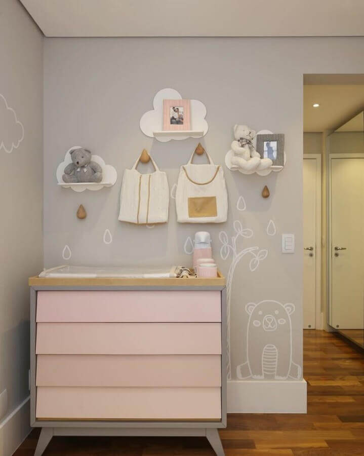 Resultado de imagem para quarto de bebe prateleira
