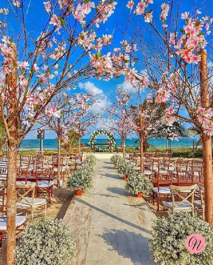 decoração rústica de casamento ao ar livre Foto Pinterest