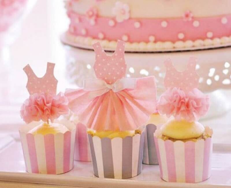 b9b4235d23 docinhos decorados com vestidinhos para festa bailarina Foto Espaço Infantil