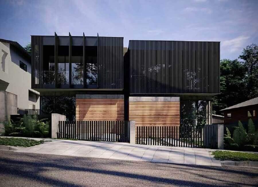 fachadas modernas para casa geminada Foto Pinterest