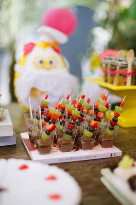 ideas for birthday party with chocolate bathed fruit Foto Pinterest