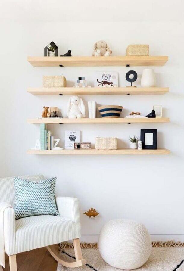 modelo de cadeira de balanço moderna com estrutura em madeira Foto Pinterest