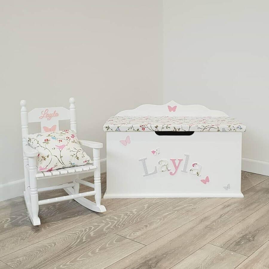 modelo de cadeira de balanço infantil Foto Dreambox Custom Toy Boxes