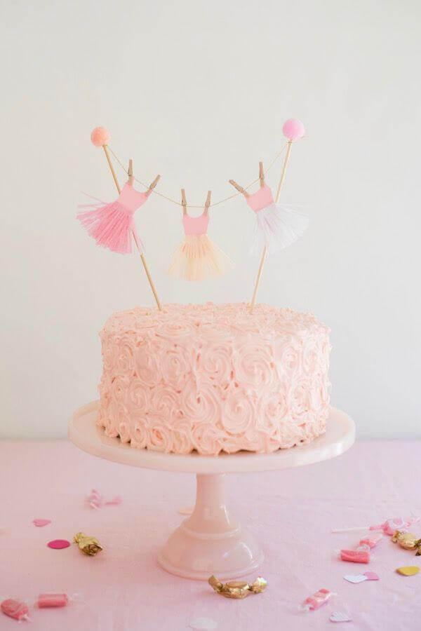 modelo simples de bolo para festa da bailarina Foto Cake Smash Cake Ideas
