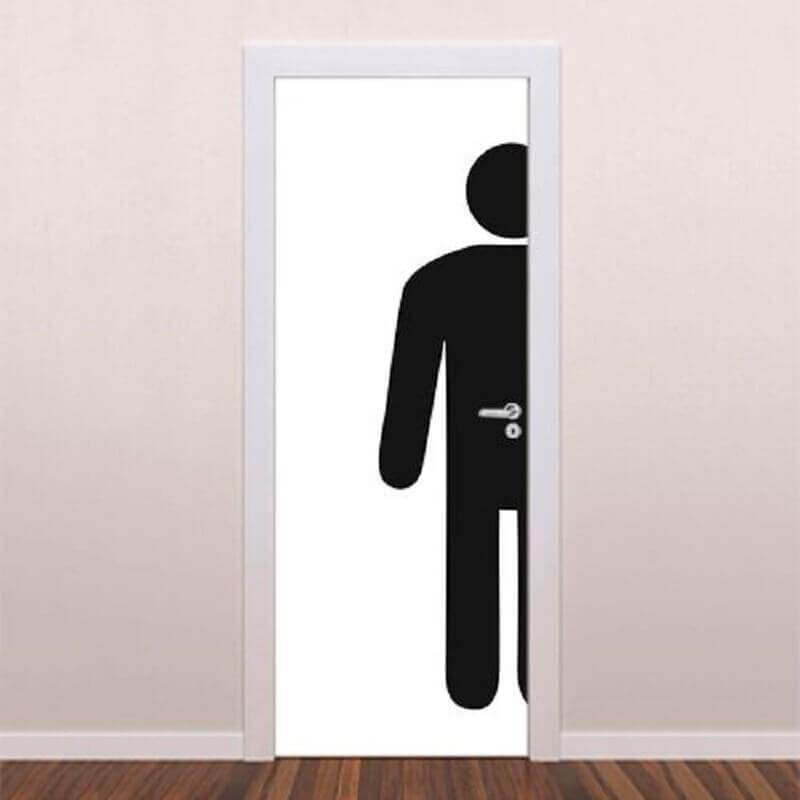 modelo simples de placa banheiro masculino Foto Brave Impressões