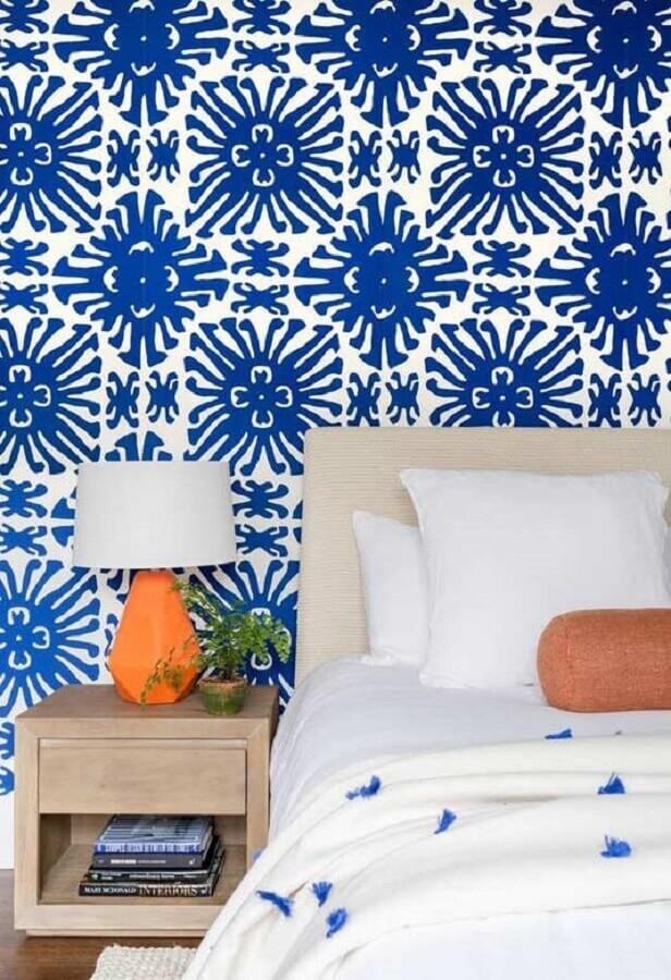 papel de parede para decoração de quarto azul Foto Casinha colorida