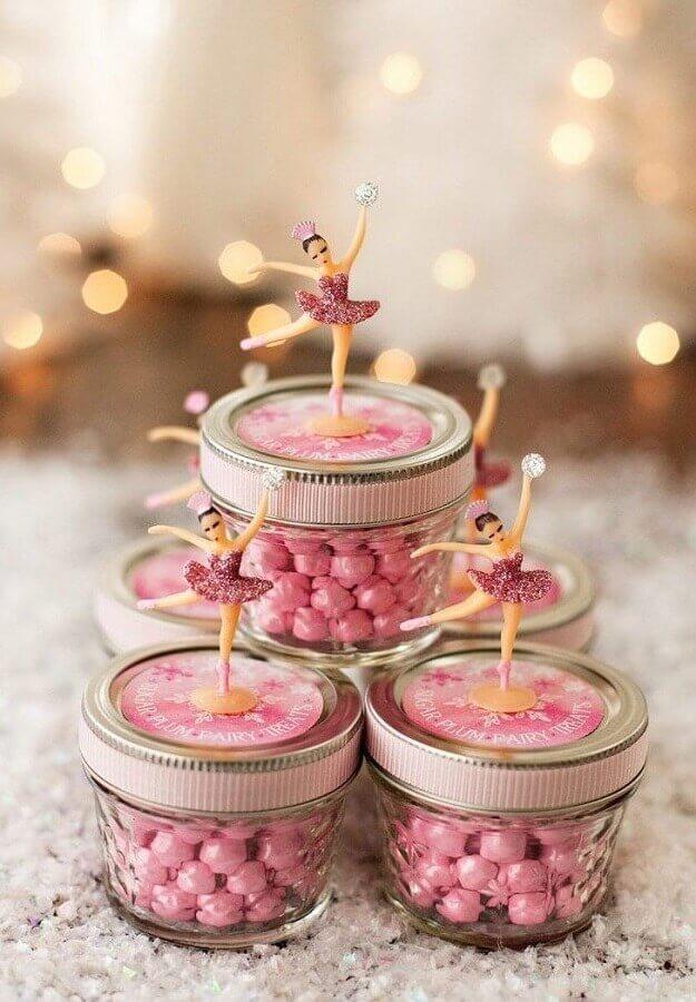 potinhos de doces decorados para festa da bailarina Foto Casa e Festa