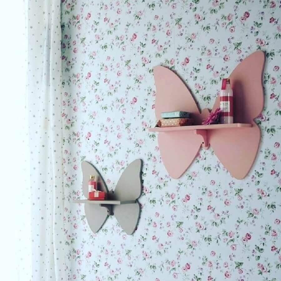 prateleira para quarto de bebê em formato de borboleta Foto Pinterest