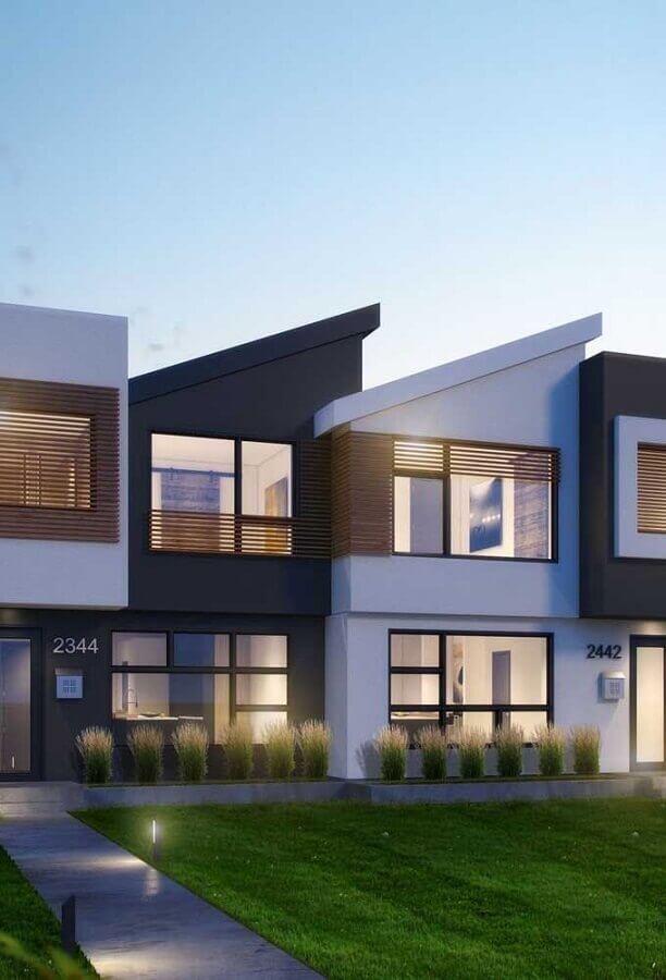 Casa geminada vantagens e desvantagens 60 fotos inspiradoras for Fachadas de casas modernas de 2 quartos