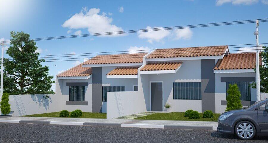 projetos de casas geminadas simples Foto Tampa Roofer
