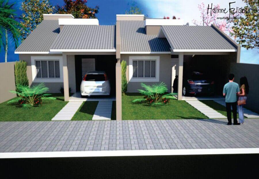 projetos de casas geminadas simples com duas unidades Foto Entenda Antes