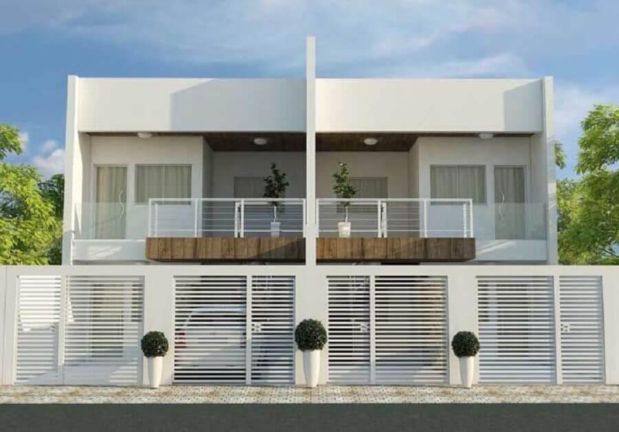 projetos de casas geminadas sobrado com sacada grande Foto Imovelweb