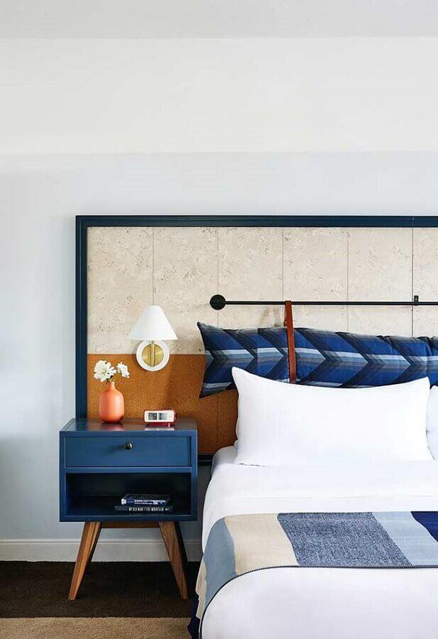 quarto azul com decoração minimalista Foto Domino
