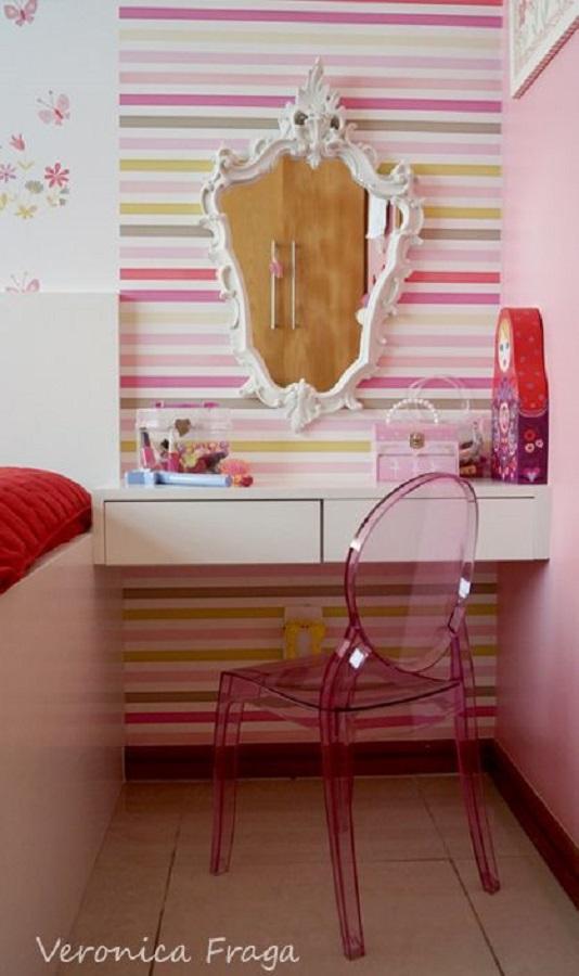 quarto com cor e penteadeira Foto Veronica Fraga