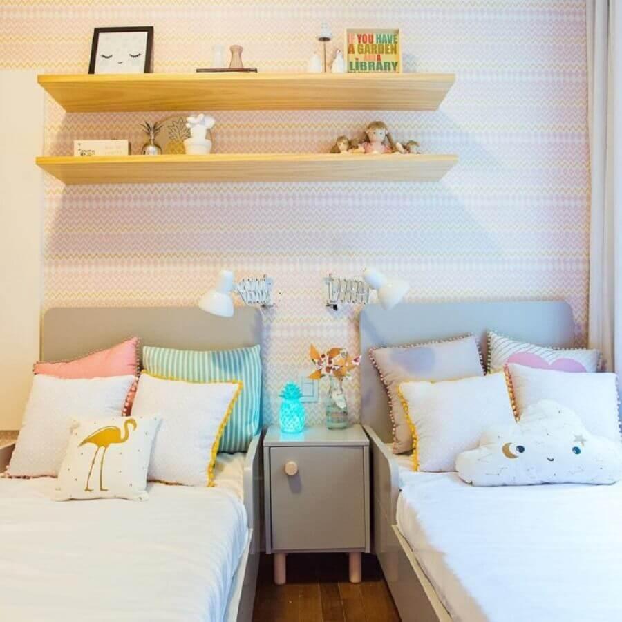 quarto de gêmeos casal infantil decorado Foto Barbara Makant Designer de Interiores