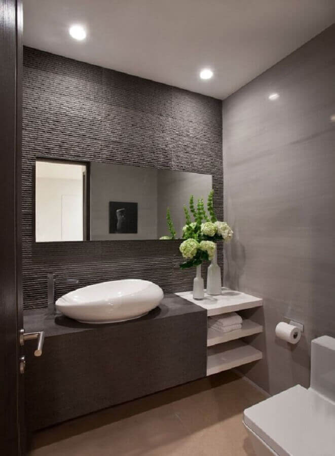revestimento 3d para banheiro masculino todo cinza Foto Air Freshener