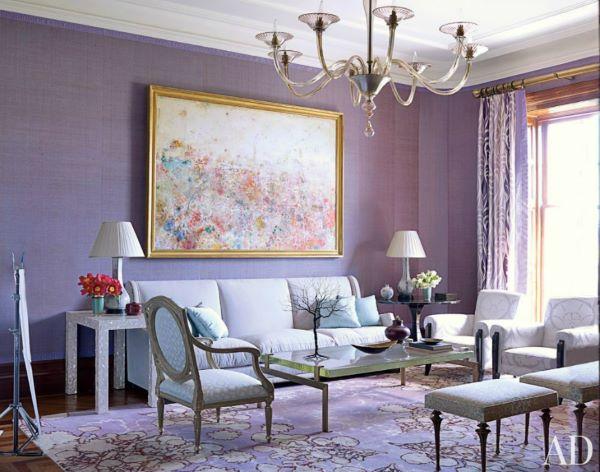 Sala cor lilás clássica