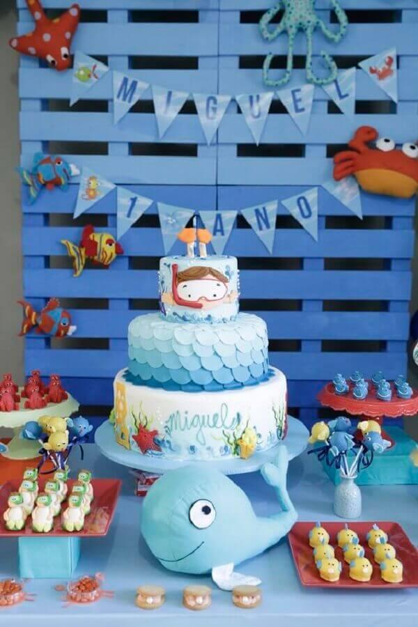 bottom theme for children's birthday party Photo Pinosy