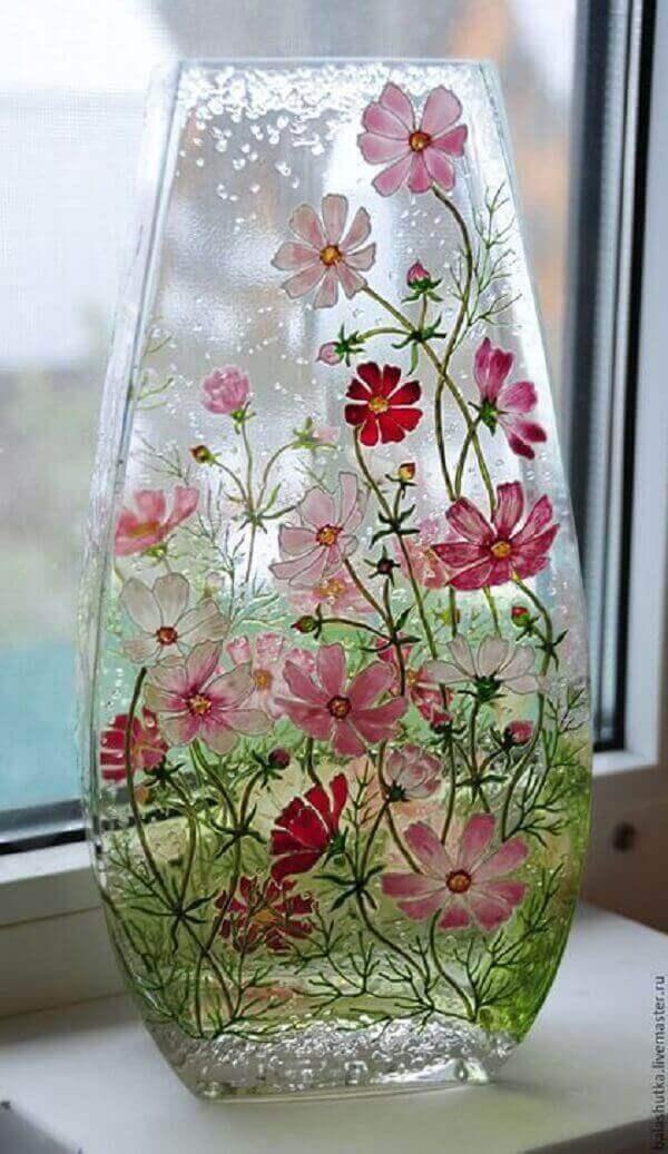 Aplicação de decoupage em vidro