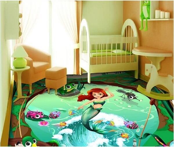 Aposte em piso 3D para quarto infantil