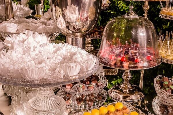 Bodas de prata decoração para doces